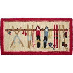 Chandler Four Corners Wool Hooked Rug, Ski Rack