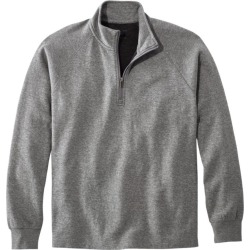 Men's Washed Cotton Double-Knit Shirts, Quarter-Zip Pullover Gray L found on Bargain Bro India from L.L. Bean for $59.95