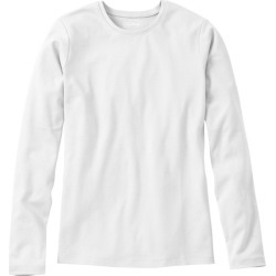 Women's L.L.Bean Tee, Long-Sleeve Crewneck White Xs found on Bargain Bro Philippines from L.L. Bean for $21.95
