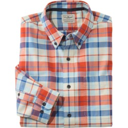 Men's Easy-Care LakewashedA Shirt, Long-Sleeve, Tartan Brown L found on Bargain Bro India from L.L. Bean for $29.99
