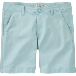 "Women's Lakewashed Chino Shorts, 6"" Blue 12"