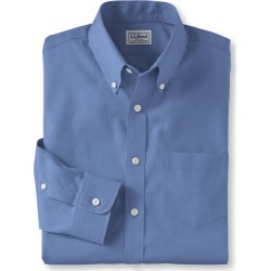 Men's Wrinkle-Free Pinpoint Oxford Cloth Shirt, Slim Fit Blue 16.5x33 found on Bargain Bro India from L.L. Bean for $54.95