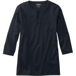 Women's L.L.Bean Tee, Three-Quarter-Sleeve Splitneck Tunic Black M found on Bargain Bro India from L.L. Bean for $34.95