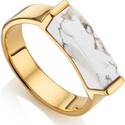 Gold Linear Stone Ring Howlite found on Bargain Bro UK from Monica Vinader