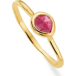 Gold Siren Small Stacking Ring Pink Quartz found on Bargain Bro India from Monica Vinader (US) for $95.00