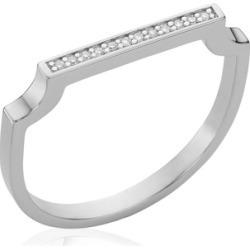 Sterling Silver Signature Thin Diamond Ring Diamond found on Bargain Bro India from Monica Vinader (US) for $195.00