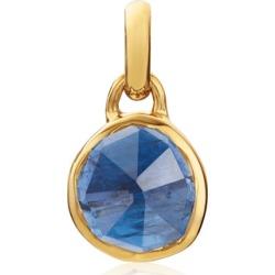 Gold Siren Mini Bezel Pendant Charm Kyanite found on Bargain Bro UK from Monica Vinader