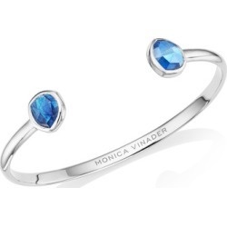 Sterling Silver Siren Thin Cuff Kyanite found on Bargain Bro India from Monica Vinader (US) for $165.00