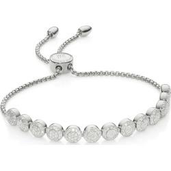 Sterling Silver Fiji Mini Button Friendship Chain Bracelet Diamond found on Bargain Bro UK from Monica Vinader