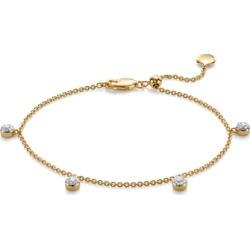 Gold Fiji Tiny Button Diamond Bracelet Diamond