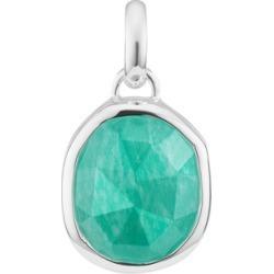 Sterling Silver Siren Medium Bezel Pendant Charm Amazonite found on Bargain Bro UK from Monica Vinader