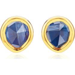 Gold Siren Mini Stud Earrings Kyanite found on Bargain Bro India from Monica Vinader (US) for $135.00