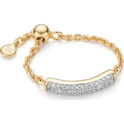 Gold Fiji Bar Adjustable Friendship Diamond Ring Diamond found on Bargain Bro UK from Monica Vinader