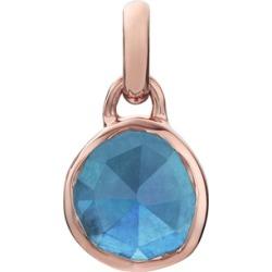 Rose Gold Siren Mini Bezel Pendant Charm Kyanite found on Bargain Bro India from Monica Vinader (US) for $85.00