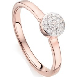 Rose Gold Fiji Mini Button Stacking Ring Diamond found on Bargain Bro India from Monica Vinader (US) for $177.00