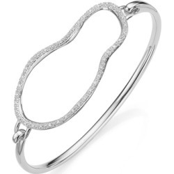 Sterling Silver Riva Large Pod Hook Bangle Diamond found on Bargain Bro India from Monica Vinader (US) for $325.00