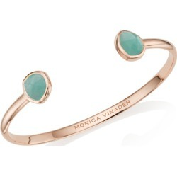 Rose Gold Siren Thin Cuff Amazonite found on Bargain Bro India from Monica Vinader (US) for $177.00