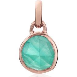 Rose Gold Siren Mini Bezel Pendant Charm Amazonite found on Bargain Bro UK from Monica Vinader
