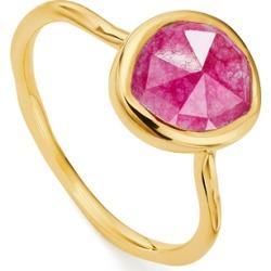 Gold Siren Stacking Ring Pink Quartz found on Bargain Bro UK from Monica Vinader