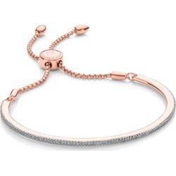 Rose Gold Fiji Skinny Bar Friendship Chain Bracelet Diamond found on Bargain Bro UK from Monica Vinader
