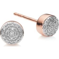 Rose Gold Fiji Mini Button Stud Earrings Diamond found on Bargain Bro UK from Monica Vinader