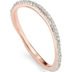 Rose Gold Riva Wave Eternity Diamond Ring Diamond found on Bargain Bro UK from Monica Vinader
