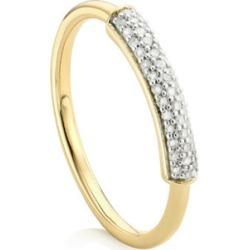 Gold Fiji Bar Stacking Ring Diamond found on Bargain Bro UK from Monica Vinader