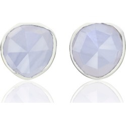 Sterling Silver Siren Stud Earrings Blue Lace Agate found on Bargain Bro UK from Monica Vinader