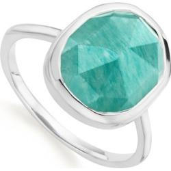 Sterling Silver Siren Medium Stacking Ring Amazonite found on Bargain Bro UK from Monica Vinader