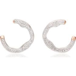 Rose Gold Riva Diamond Circle Wrap Earrings Diamond found on Bargain Bro UK from Monica Vinader