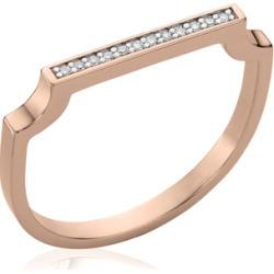 Rose Gold Signature Thin Diamond Ring Diamond found on Bargain Bro UK from Monica Vinader