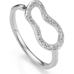 Sterling Silver Riva Mini Pod Ring Diamond found on Bargain Bro India from Monica Vinader (US) for $195.00