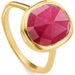 Gold Siren Medium Stacking Ring Pink Quartz found on Bargain Bro UK from Monica Vinader