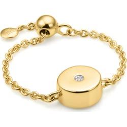 Gold Linear Solo Adjustable Friendship Diamond Ring Diamond found on Bargain Bro UK from Monica Vinader