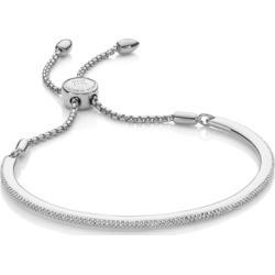 Sterling Silver Fiji Skinny Bar Friendship Chain Bracelet Diamond found on Bargain Bro UK from Monica Vinader