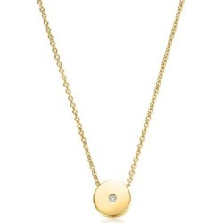 Gold Linear Solo Diamond Necklace Diamond found on Bargain Bro UK from Monica Vinader