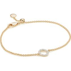 Gold Riva Mini Circle Bracelet Diamond found on Bargain Bro India from Monica Vinader (US) for $275.00