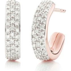 Rose Gold Fiji Mini Hoop Diamond Earrings Diamond found on Bargain Bro India from Monica Vinader (US) for $650.00