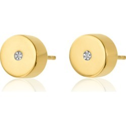 Gold Linear Solo Stud Diamond Earrings Diamond found on Bargain Bro UK from Monica Vinader