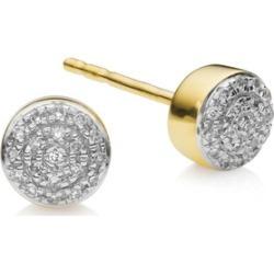 Gold Fiji Mini Button Stud Earrings Diamond found on Bargain Bro UK from Monica Vinader