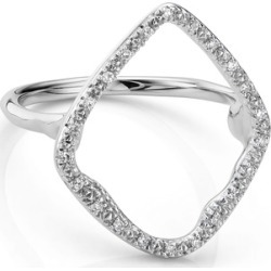 Sterling Silver Riva Hoop Cocktail Ring Diamond found on Bargain Bro UK from Monica Vinader