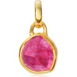 Gold Siren Mini Bezel Pendant Charm Pink Quartz found on Bargain Bro UK from Monica Vinader