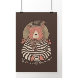 Poster Coffee Bear