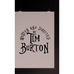 Poster Directed By Tim Burton
