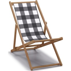 Cabana Chair | Black Check