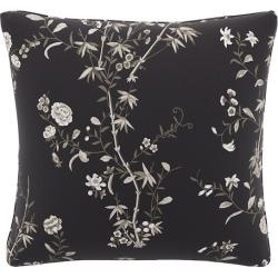 Throw Pillow | Black Bamboo Garden