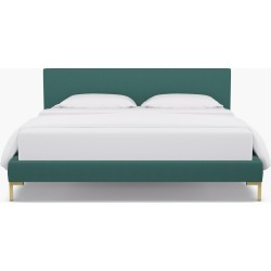 Modern Platform Bed | California King | Teal Linen found on Bargain Bro India from The Inside for $1425.00