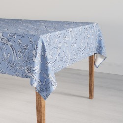 Large Tablecloth | Blue Aviary