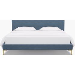 Modern Platform Bed | King | Ocean Velvet found on Bargain Bro India from The Inside for $1575.00