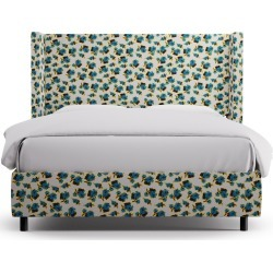 Modern Wingback Bed | Queen | Acid Floral